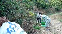 王子が岳の清掃活動